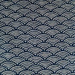 Tissu japonais moyen vagues...