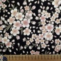 Tissu chirimen fleurs de cerisier fond blanc crème