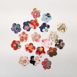 Autocollants en papier japonais fleurs de prunier