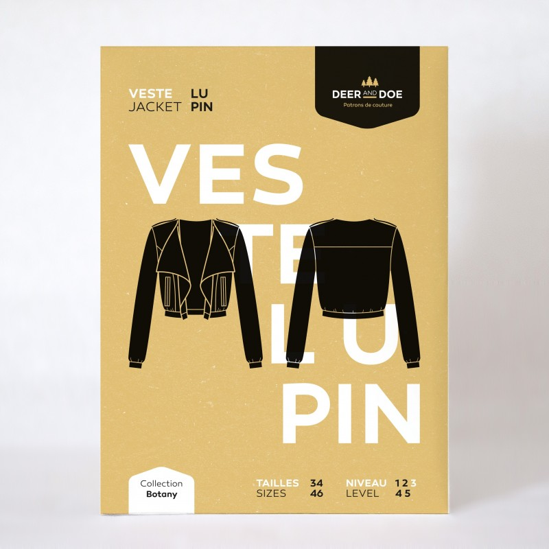 Patron de couture veste Lupin - marque Deer and Doe