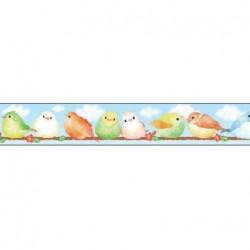 Masking tape oiseaux fond bleu 15mm x 7m