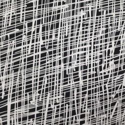 Tissu maillot de bain graphique noir et blanc