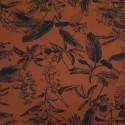 Tissu maillot de bain rouille motifs plantes