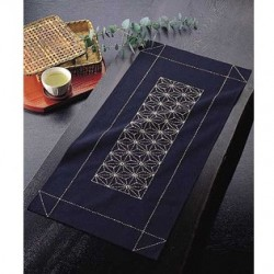 Kit sashiko 1 chemin de table asanoha (35x75cm)