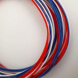Pack fils mizuhiki bleu blanc rouge (3x90cm par couleur)