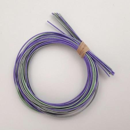 Pack fils mizuhiki gris violet vert (3x90cm par couleur)