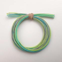 Pack fils mizuhiki vert vif vert azur et gris (3x90cm par couleur)
