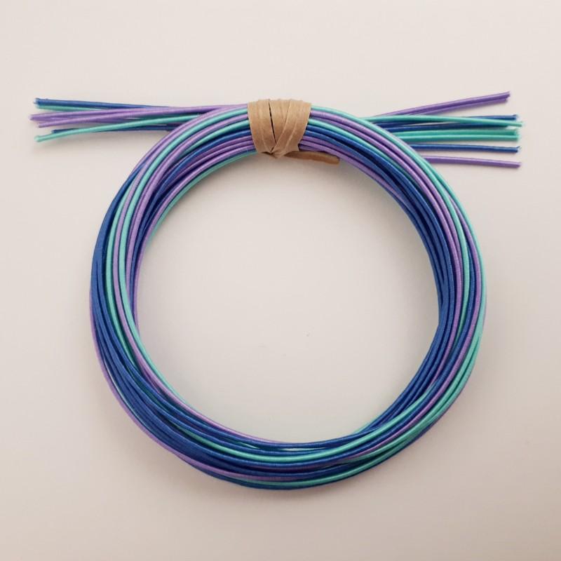 Pack fils mizuhiki bleu azur violet (3x90cm par couleur)