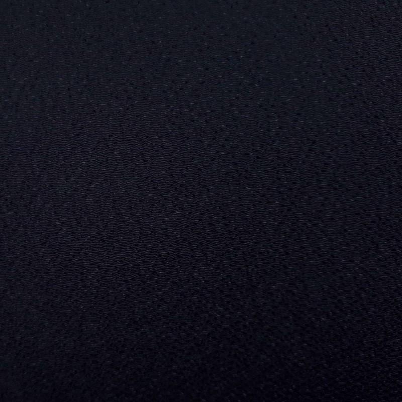 Tissu chirimen bleu nuit uni