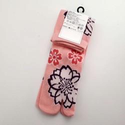Chaussettes tabi fleurs de cerisier pointure 35 à 38