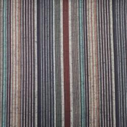 Tissu japonais coton tissé bleu indigo rayures colorées