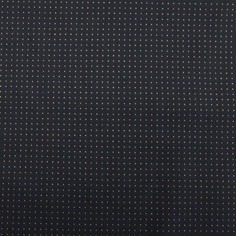 Toile sashiko indigo pour motifs style hitomezashi