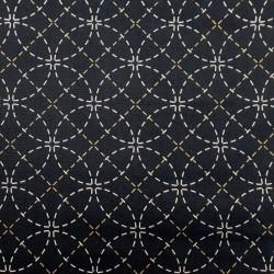 Toile sashiko indigo motifs shippô