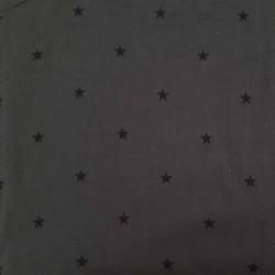 Dark grey japanese quality double gauze with stars
