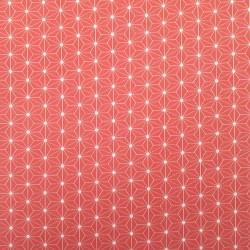 Jersey coton élasthanne motifs asanoha corail (largeur 160cm)