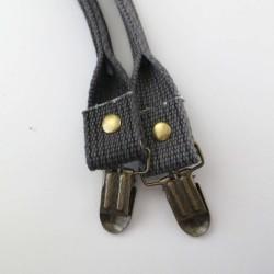 Anses à clipper noires en coton 40cm